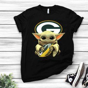 Football Baby Yoda Hug Green Bay Packers shirt