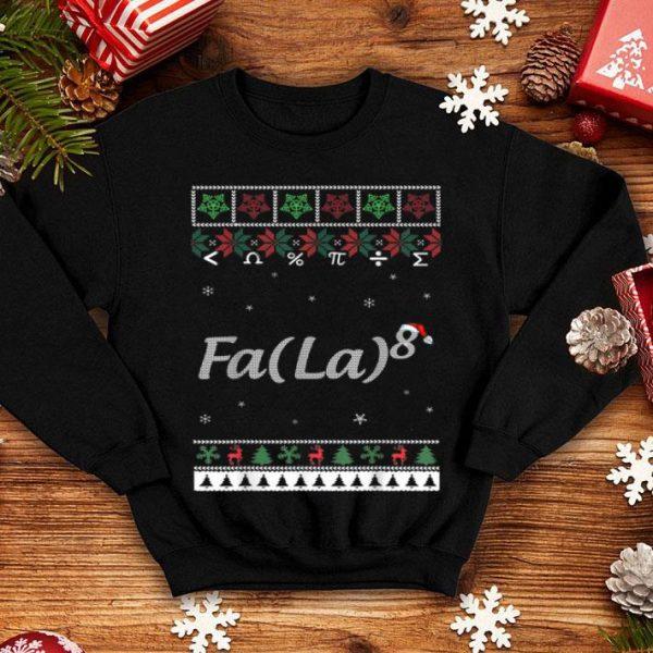 Funny Fa La La La La Math Fa Ugly Christmas Gift sweater