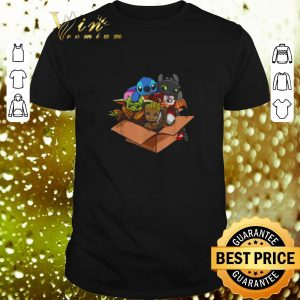 Nice Baby Yoda Gizmo Groot Stitch and Toothless shirt