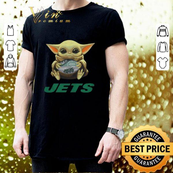 Nice Baby Yoda hug New York Jets Star Wars Mandalorian shirt