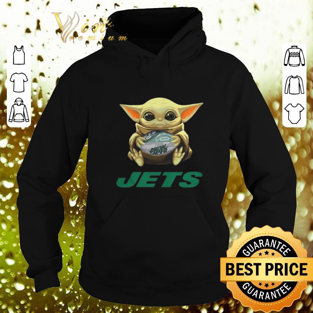 Nice Baby Yoda hug New York Jets Star Wars Mandalorian shirt 4 - Nice Baby Yoda hug New York Jets Star Wars Mandalorian shirt