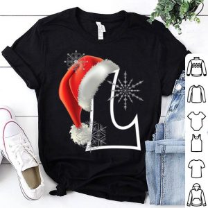 Nice Cutest Capital Letter L Santa Monogram Christmas Holidays sweater