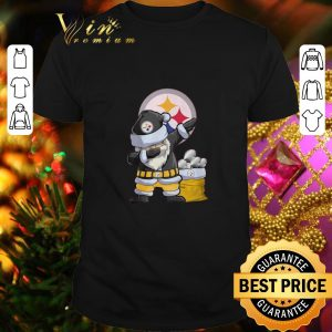 Nice Dabbing Santa Pittsburgh Steelers Logo Christmas shirt