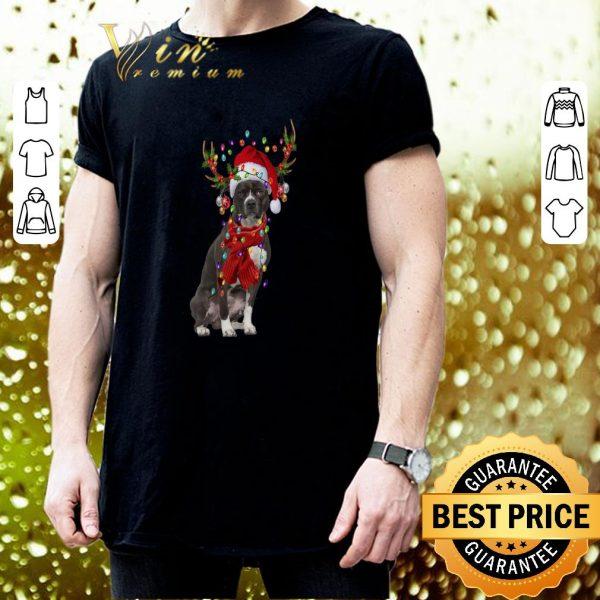 Nice Pit Bull Reindeer Christmas shirt