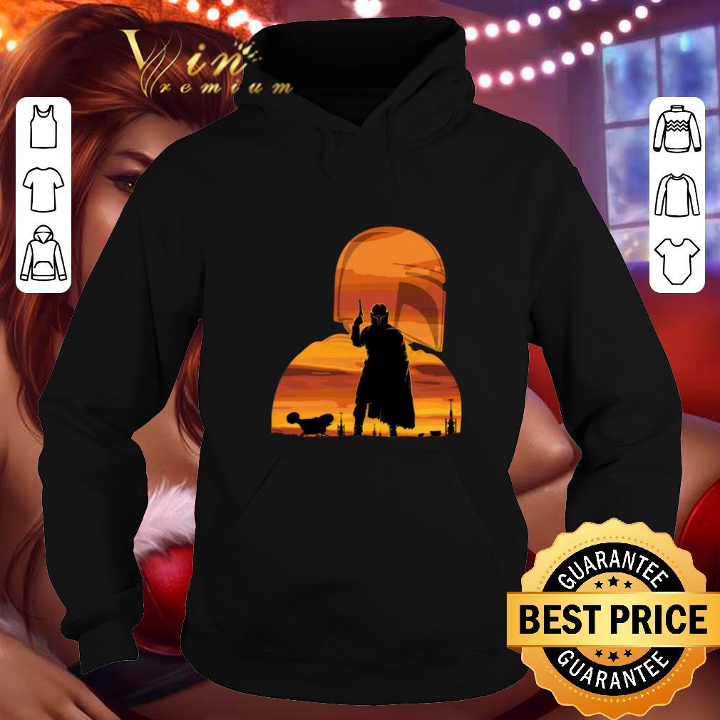 Nice The Mandalorian Gunfighter Has Landed Star Wars Sunset shirt 4 - Nice The Mandalorian Gunfighter Has Landed Star Wars Sunset shirt