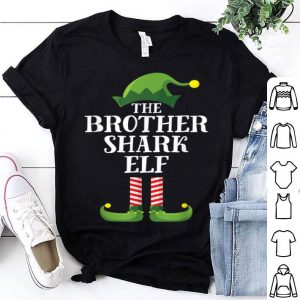 Official Brother Shark Elf Matching Family Group Christmas Party PJ sweater