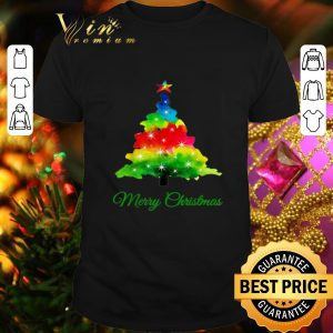 Official Colorful merry Christmas Tree Art shirt