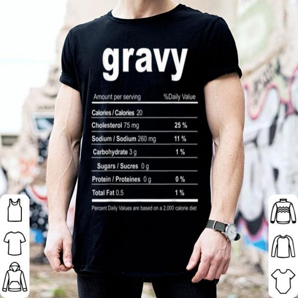 Official Gravy Funny Christmas Food Nutrition Facts sweater