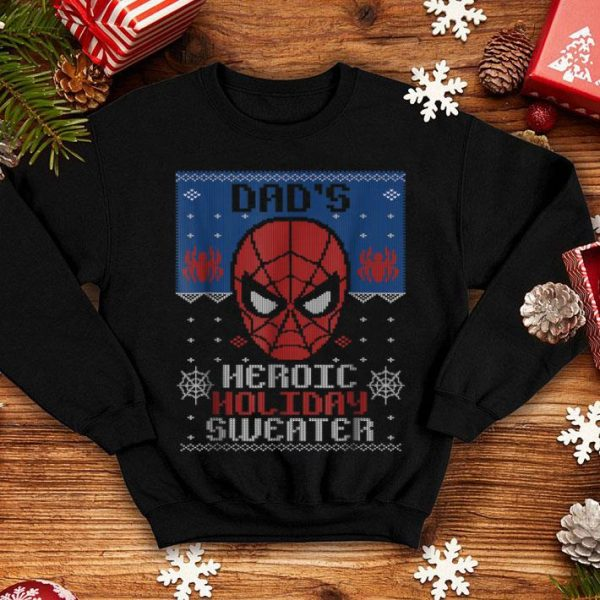 Official Mens Marvel Spider-Man Dad's Heroic Holiday Christmas sweater
