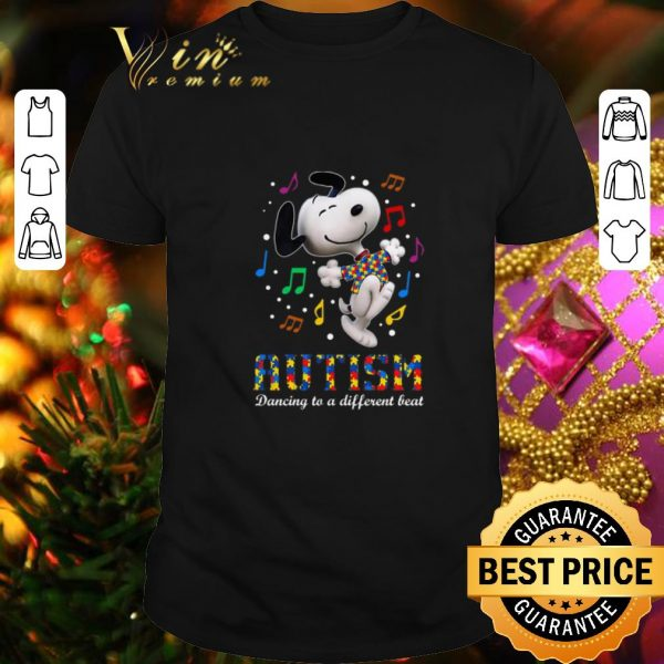 Official Snoopy Autism dancing to different beat shirt