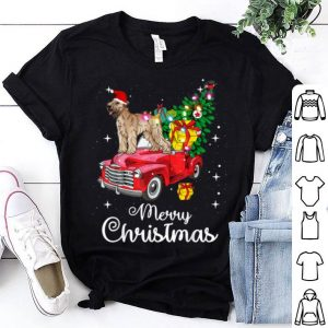 Official Soft Coated Wheaten Terrier Rides Red Truck Christmas sweater