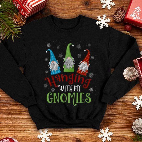 Original Hanging With My Gnomies Tee Santa Gardening Gnome Christmas sweater