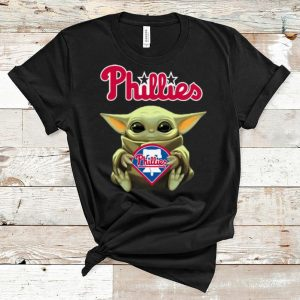 Premium Star Wars Softball Baby Yoda Hug Philadelphia Phillies shirt