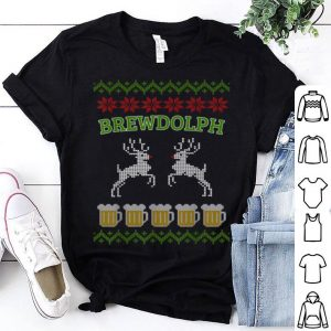 Pretty Brewdolph Ugly Christmas Beer Design sweater