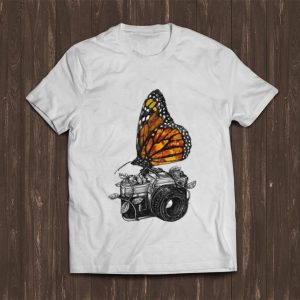 Hot Butterfly And Camera Art shirt