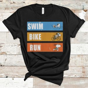 Nice Snoopy Swim Bike Run shirt