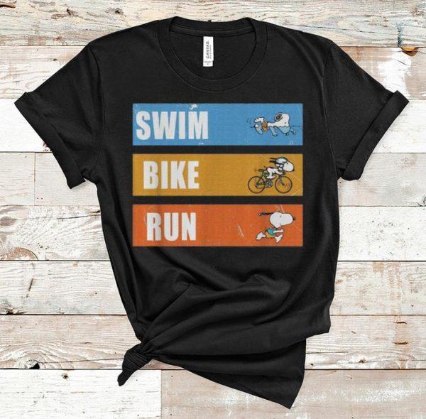Nice Snoopy Swim Bike Run shirt