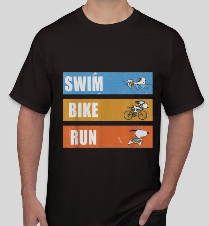Nice Snoopy Swim Bike Run shirt 4 - Nice Snoopy Swim Bike Run shirt