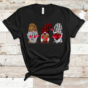Premium Three Gnomes Hearts Happy Valentines Day shirt