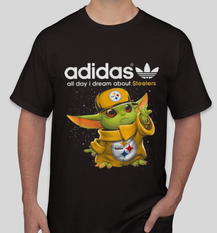 Top Baby Yoda Adidas All Day I Dream About Steelers shirt 4 - Top Baby Yoda Adidas All Day I Dream About Steelers shirt