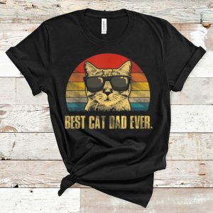Awesome Best Cat Dad Ever Father's Day Vintage Cat Lovers shirt