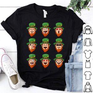 Awesome Leprechaun Emoji St Patrick's Day Emoticons Boys Girls Kids shirt