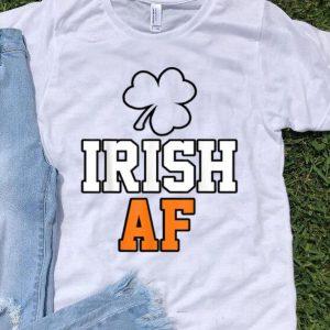 Awesome St Patricks Day Irash Af Funny Shamrock Drinking Gift shirt