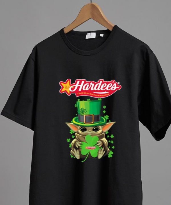 Awesome Star Wars Baby Yoda Hardee's Shamrock St.Patrick's Day shirt