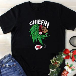 Cool Chiefin weed smoking Indian Kansas City Chiefs Champions shirt