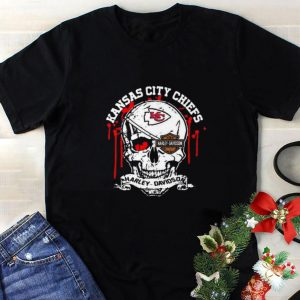 Cool Kansas City Chiefs Motor Harley Davidson Cycles skull shirt