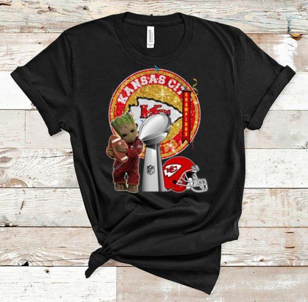 Original Baby Groot Hug Footbal Kansas City Chiefs Super Bowl Champions shirt