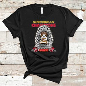 Original Bulldog Iron Throne Super Bowl LIV Champions Chiefs shirt