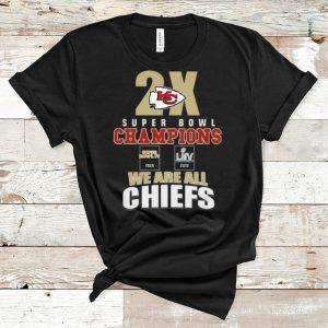 Original Kansas City Chiefs 2x Super Bowl Champions 1969 2019 We Are All Chiefs shirt