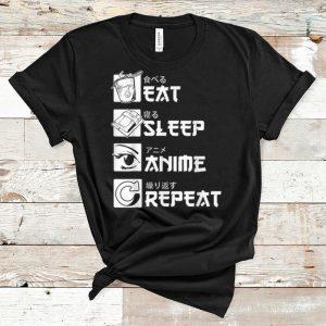 Premium Eat Sleep Anime Repeat Japanese Manga shirt