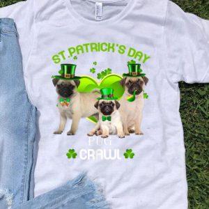 Premium St Patrick's Day Pug Crawl Dog Lover shirt