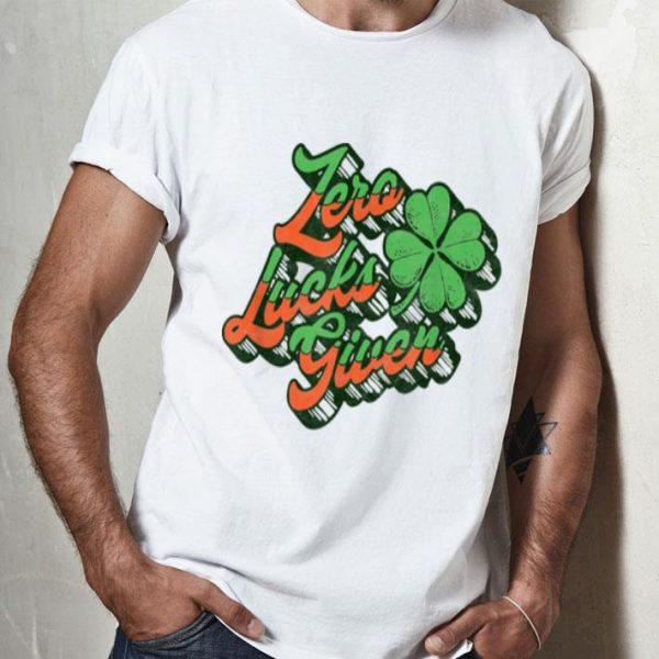 Premium Zero Lucks Given Funny St. Patrick's Day Vintage Shamrock shirt