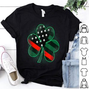 Pretty Firefighter St Patrick's Day Clover shirt