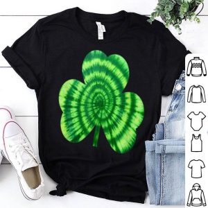 Pretty Green Tie Dye Shamrock Hippie St Patricks Day shirt