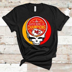 Pretty Kansas City Chiefs Super Bowl LIV Champions Skull shirt