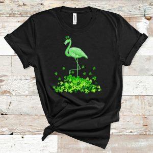 Pretty Shamrock Irish Flamingo shirt