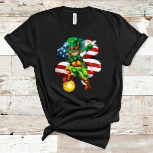 Pretty Uncle Sam Dabbing Irish America Flag St Patrick's Day shirt