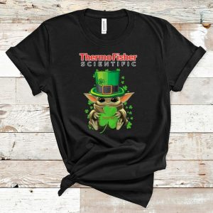 Top Star Wars Baby Yoda Thermo Fisher Scientific Shamrock St.Patrick's Day shirt