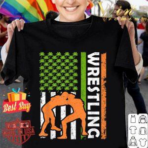 Vintage Irish Wrestling American Flag St Patrick's Day Gifts shirt