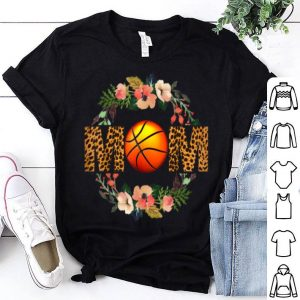 Awesome Basketball Mom Leopard Floral Mother's Day Gift shirt