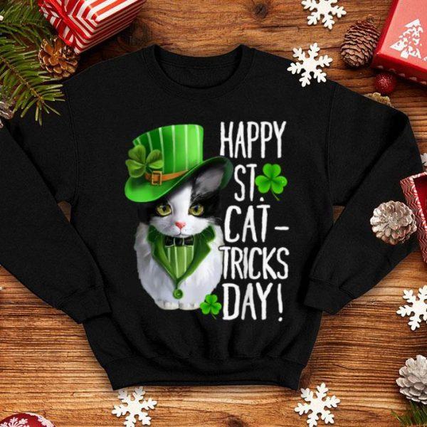 Awesome Cat Shamrock Leprechaun Happy St Patricks Day Women shirt