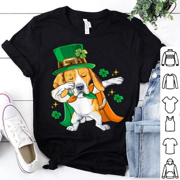 Awesome Dabbing Beagle Leprechaun St Patricks Day Gift shirt