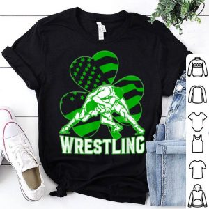 Awesome Irish American Flag Shamrock Wrestling St Patrick's Day Gift shirt
