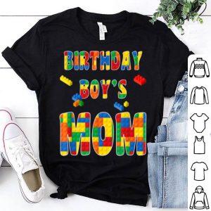 Beautiful Building Block Mom Of Birthday Boy shirt