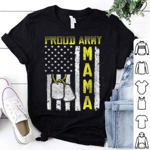 Beautiful Proud Army Mama Distressed American Flag Veteran shirt