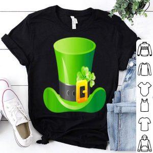 Beautiful Saint Patrick's Day Lucky Leprechaun Hat In Black shirt